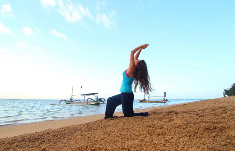 sanur beach yoga - nesa sanur
