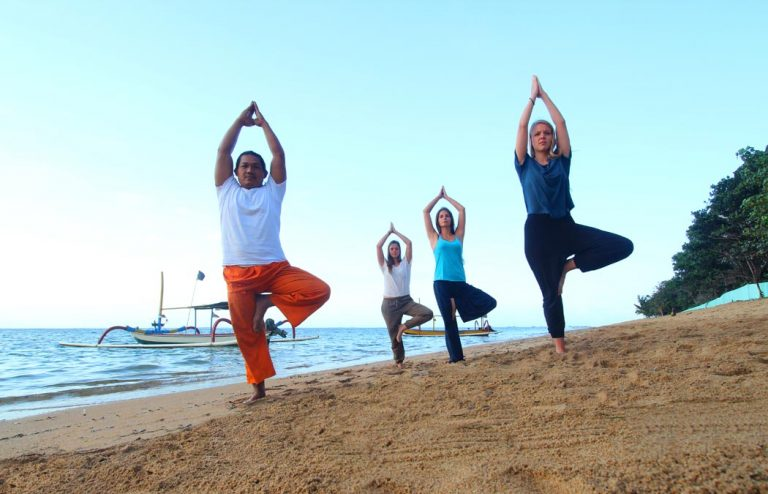 morning sanur yoga activities